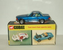 Мерседес Бенц Mercedes Benz 350 SL R107 1973 Corgi Toys Whizzwheels 1:43 Made in Gt Britain
