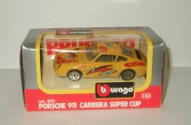 Порше Porsche 911 Carrera Super Cup Bburago 1:43 Made in Italy 1990-е