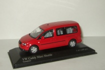 Фольксваген VW Volkswagen CADDY MAXI SHUTTLE 2007 Красный Minichamps 1:43 400057000