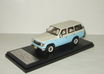 Тойота Toyota Land Cruiser 60 Flex Dream 1982 4x4 4WD Blue/White Hi-Story 1:43 HS061SP1