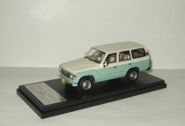 Тойота Toyota Land Cruiser 60 Flex Dream 1982 4x4 4WD Green/White Hi-Story 1:43 HS061SP3